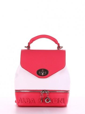 фото рюкзак Alba Soboni 180064 коралловый-белый купить