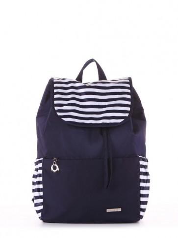 фото рюкзак Alba Soboni 183811 синий/белая полоса купить