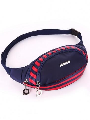 фото сумка Alba Soboni 183872 синий/красная полоса купить