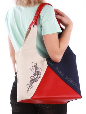 фото сумка Alba Soboni 190383 сине-красный купить