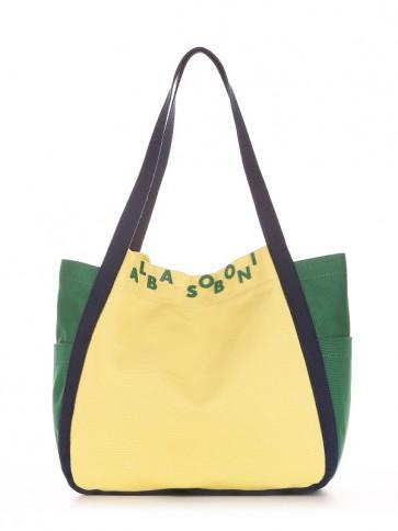 фото сумка Alba Soboni 190431 желтый-зеленый купить