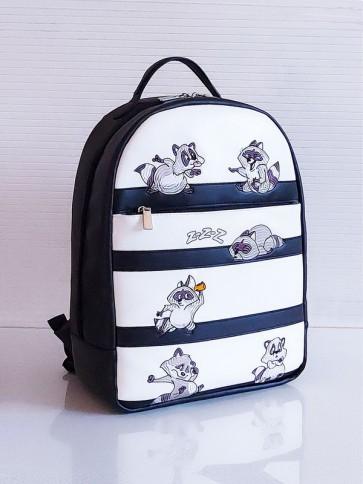 фото школьный рюкзак Alba Soboni 201352 черно-белый купить