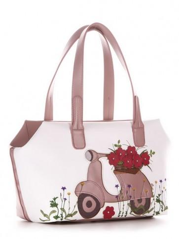 фото сумка Alba Soboni 210103 белый-пудрово-розовый купить