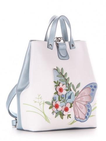 фото рюкзак Alba Soboni 210122 белый-голубой купить