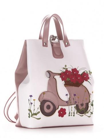 фото рюкзак Alba Soboni 210123 белый-пудрово-розовый купить