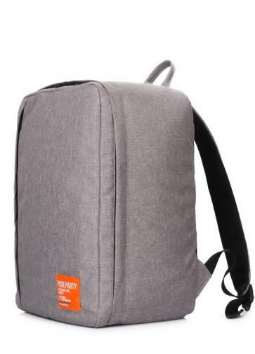 фото дорожный рюкзак POOLPARTY airport-grey купить