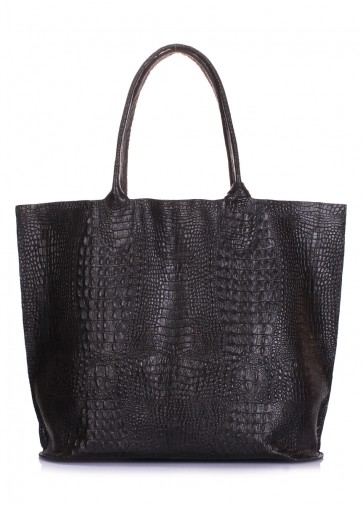 фото сумка POOLPARTY amphibia-croco-black купить