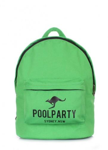 фото рюкзак POOLPARTY backpack-kangaroo-green купить