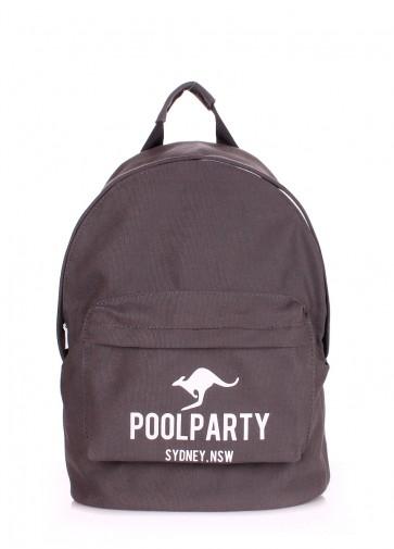 фото рюкзак POOLPARTY backpack-kangaroo-grey купить