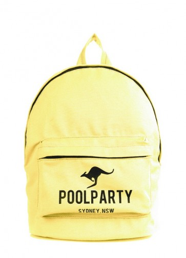 фото рюкзак POOLPARTY backpack-kangaroo-yellow купить