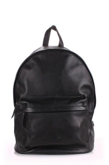 фото рюкзак POOLPARTY backpack-leather-black купить
