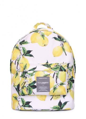 фото рюкзак POOLPARTY backpack-lemons купить