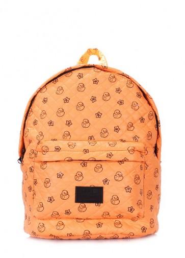 фото рюкзак POOLPARTY backpack-theone-orange-ducks купить