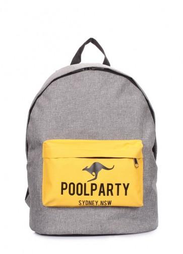 фото рюкзак poolparty backpack-yellow-grey купить
