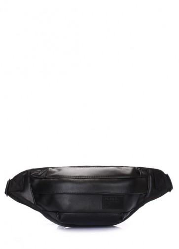 фото сумка на пояс POOLPARTY bumbag-pu-black купить