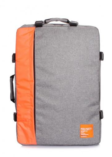 фото рюкзак POOLPARTY cabin-grey-orange купить