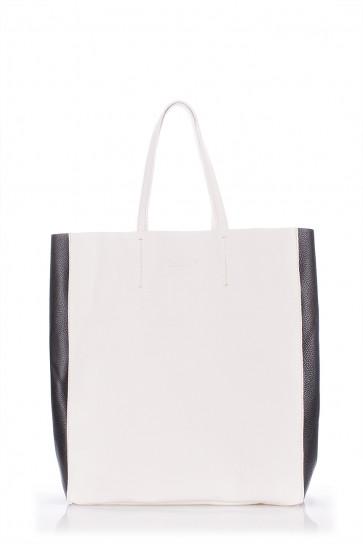 фото сумка POOLPARTY city2-white-black купить
