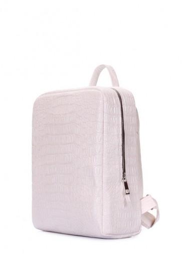фото рюкзак POOLPARTY cult-croco-white купить