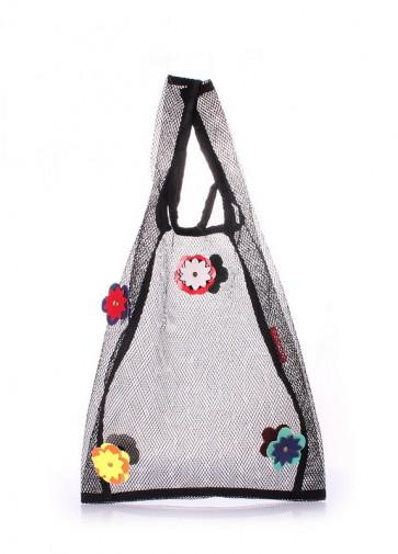фото сумка POOLPARTY flower-mesh-tote купить