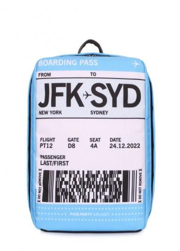 фото дорожный рюкзак POOLPARTY hub-boardingpass купить
