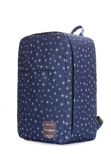 фото рюкзак POOLPARTY hub-planes-darkblue купить