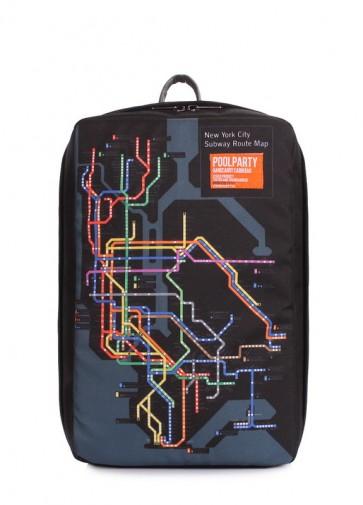 фото рюкзак для ручной клади POOLPARTY hub-subway купить