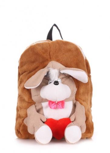 фото рюкзак POOLPARTY kiddy-backpack-dog-brown купить