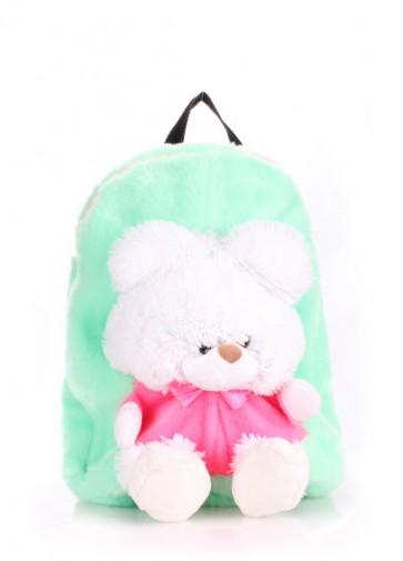 фото рюкзак POOLPARTY kiddy-backpack-teddybear-green купить