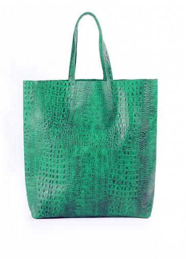 фото сумка POOLPARTY leather-city-croco-green купить