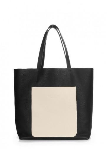 фото сумка POOLPARTY mania-black-beige купить