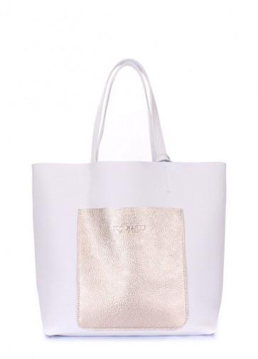 фото сумка POOLPARTY mania-white-gold купить