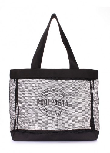 фото сумка POOLPARTY mesh-beach-tote купить