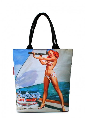 фото сумка POOLPARTY pool-navy-chicks купить