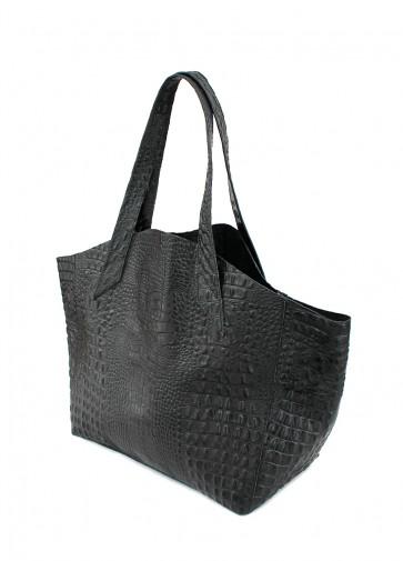 фото сумка poolparty-fiore-crocodile-black купить
