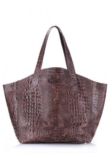 фото сумка poolparty-fiore-crocodile-brown купить