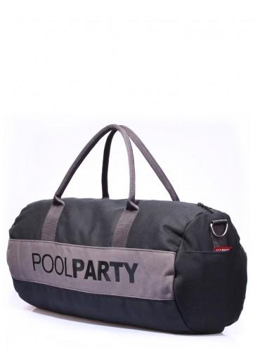 фото сумка POOLPARTY poolparty-gymbag-black-grey купить