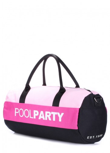 фото сумка POOLPARTY poolparty-gymbag-rose-pink-black купить