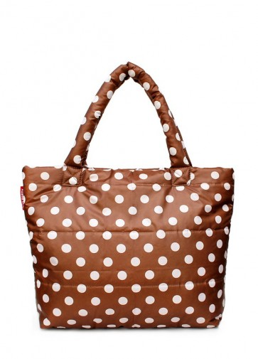 фото сумка POOLPARTY pp4-cappuccino-dots купить