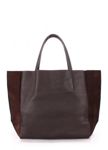 фото сумка POOLPARTY soho-brown-velour купить