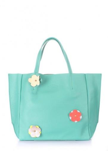 фото сумка POOLPARTY soho-flower-mint купить