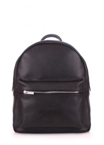 фото рюкзак POOLPARTY xs-bckpck-leather-black купить