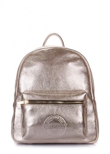 фото рюкзак POOLPARTY xs-bckpck-leather-gold купить