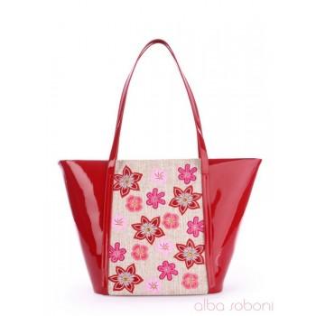 фото сумка Alba Soboni 170032 красно-бежевый купить