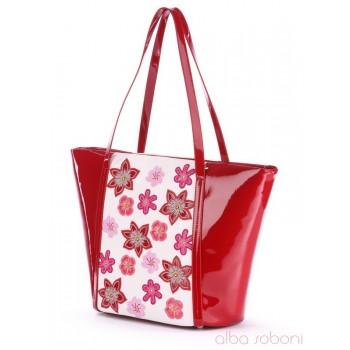 фото сумка Alba Soboni 170033 красно-белый купить