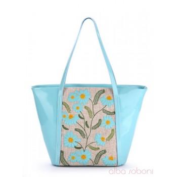 фото сумка Alba Soboni 170035 голубой-беж купить