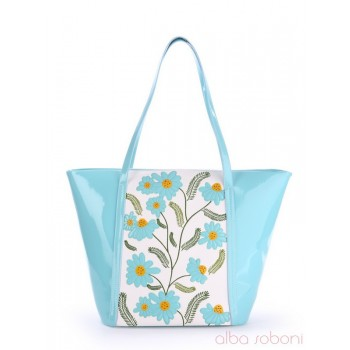 фото сумка Alba Soboni 170036 голубой-белый купить