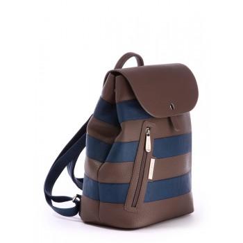 фото рюкзак Alba Soboni 171482 коричневый-синий купить