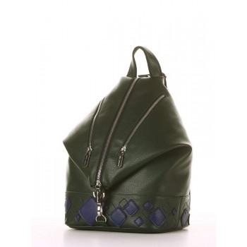 фото рюкзак Alba Soboni 181403 темно-зеленый купить