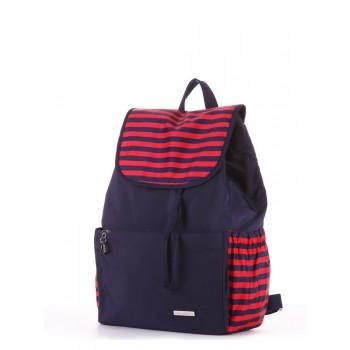 фото рюкзак Alba Soboni 183812 синий/красная полоса купить