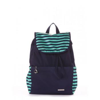 фото рюкзак Alba Soboni 183813 синий/зелёная полоса купить
